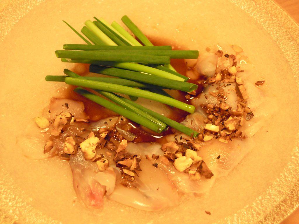 ニザダイの中華風洗いナッツのせ完成