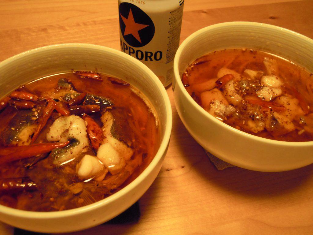 ニザダイとマトウダイの水煮魚完成