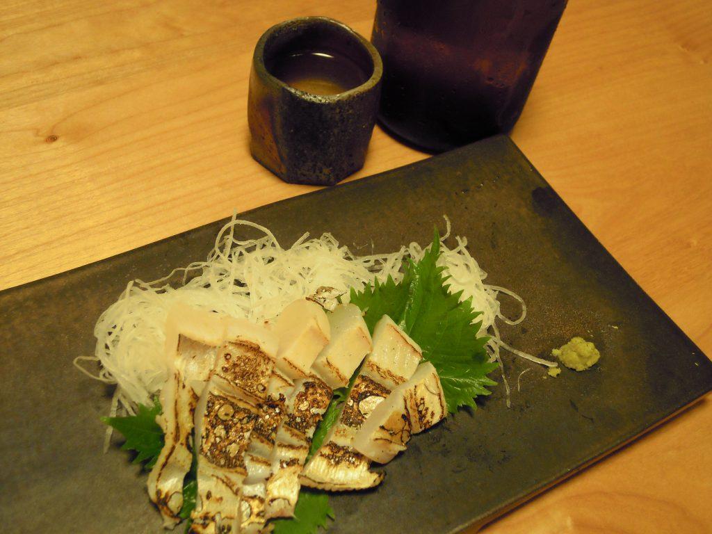 マナガツオの炙り刺身(腹側)完成