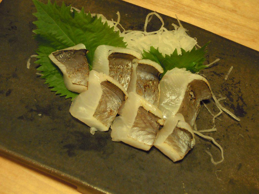 マナガツオの炙り刺身(背側)