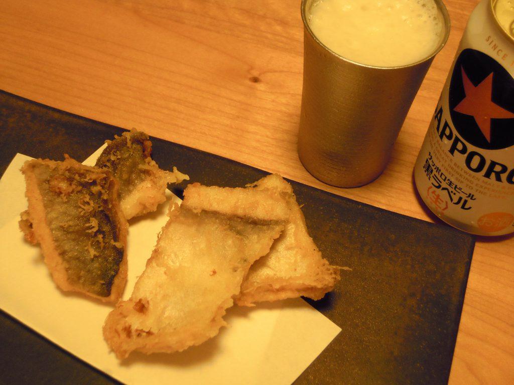 マナガツオの天ぷら完成