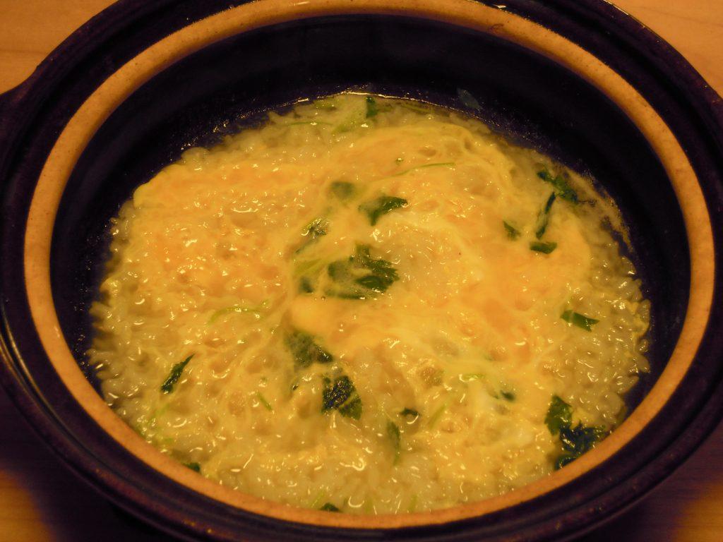 クエ鍋の〆の雑炊